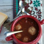 Easy Italian Meatball Soup | recipe on www.crumbsandchaos.net