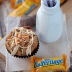 Butterfinger Banana Muffins | Crumbs and Chaos