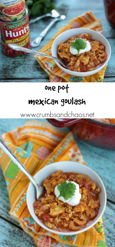 One Pot Mexican Goulash | recipe by Crumbs and Chaos