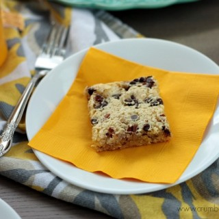 Pecan Chocolate Chip Cream Cheese Bars | Crumbs and Chaos