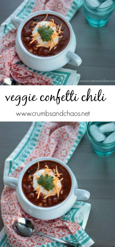 Veggie Confetti Chili Collage