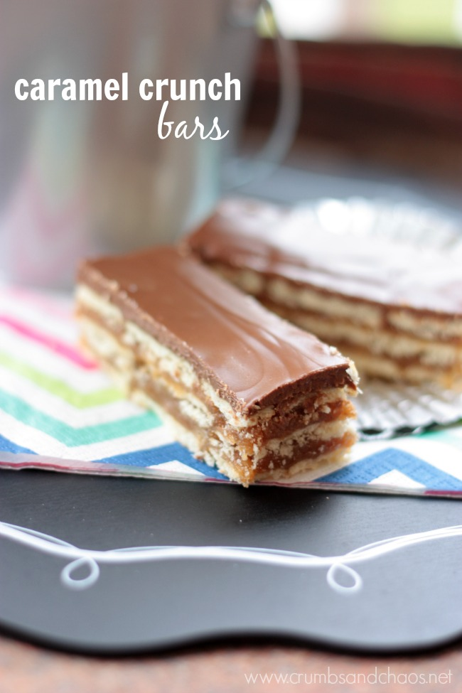Caramel Crunch Bars | Crumbs and Chaos