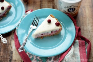 No Bake Cranberry Yogurt Pie | Crumbs and Chaos