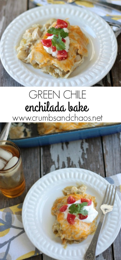 Green Chile Enchilada Bake | Crumbs and Chaos