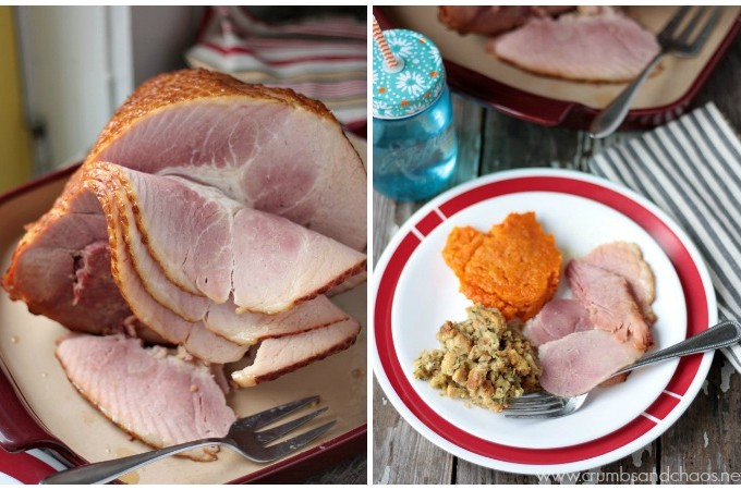 Maple Mustard Glazed Ham | Crumbs and Chaos