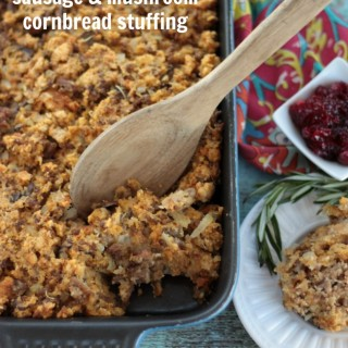 Sausage & Mushroom Cornbread Stuffing | Crumbs and Chaos