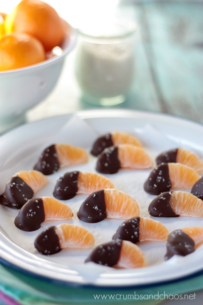 Chocolate Dipped Clementines | Crumbs and Chaos