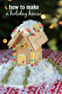 How to Make a Graham Cracker Holiday House | Crumbs and Chaos