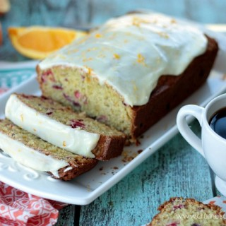 Iced Cranberry Orange Bread