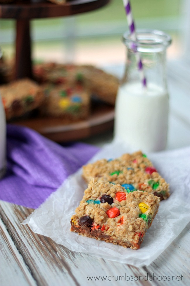 M&M PB Dream Bars | Crumbs and Chaos