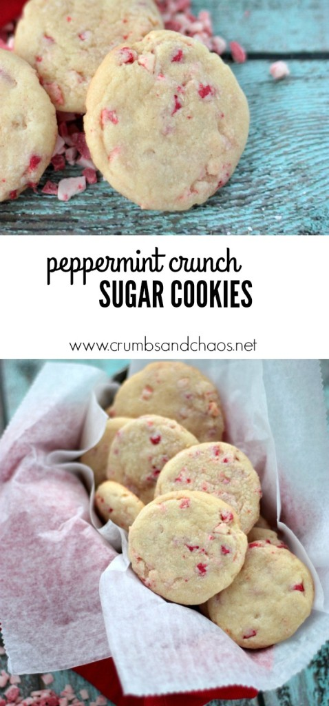 Peppermint Crunch Sugar Cookies | Crumbs and Chaos