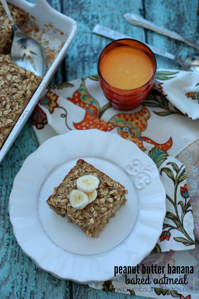 A simple hearty breakfast, Peanut Butter Banana Baked Oatmeal is a delicious way to start the day!