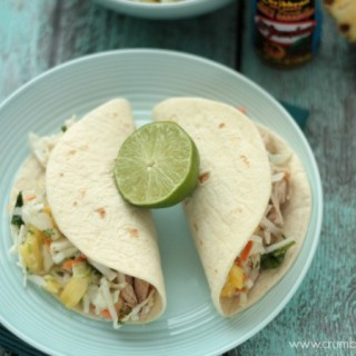 Slow Cooker Caribbean Pork Tacos | Crumbs and Chaos