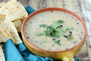 Easy to make, Cheesy Sausage Salsa Verde Dip is packed full of flavor and so good!!