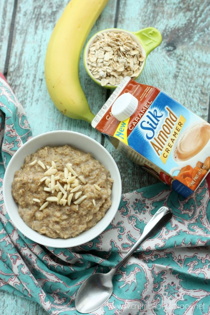 Caramel Almond Oatmeal   Crumbs and Chaos