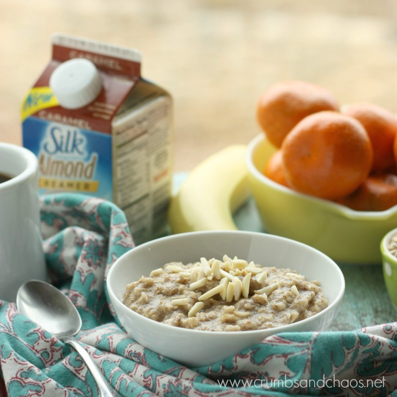 Caramel Almond Oatmeal | Crumbs and Chaos