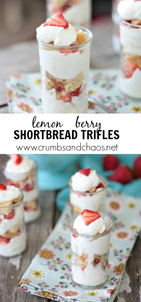 Easy Lemon Berry Shortbread Trifles Recipe, make this Lemon Berry Shortbread Trifle as personal servings or in a large serving dish