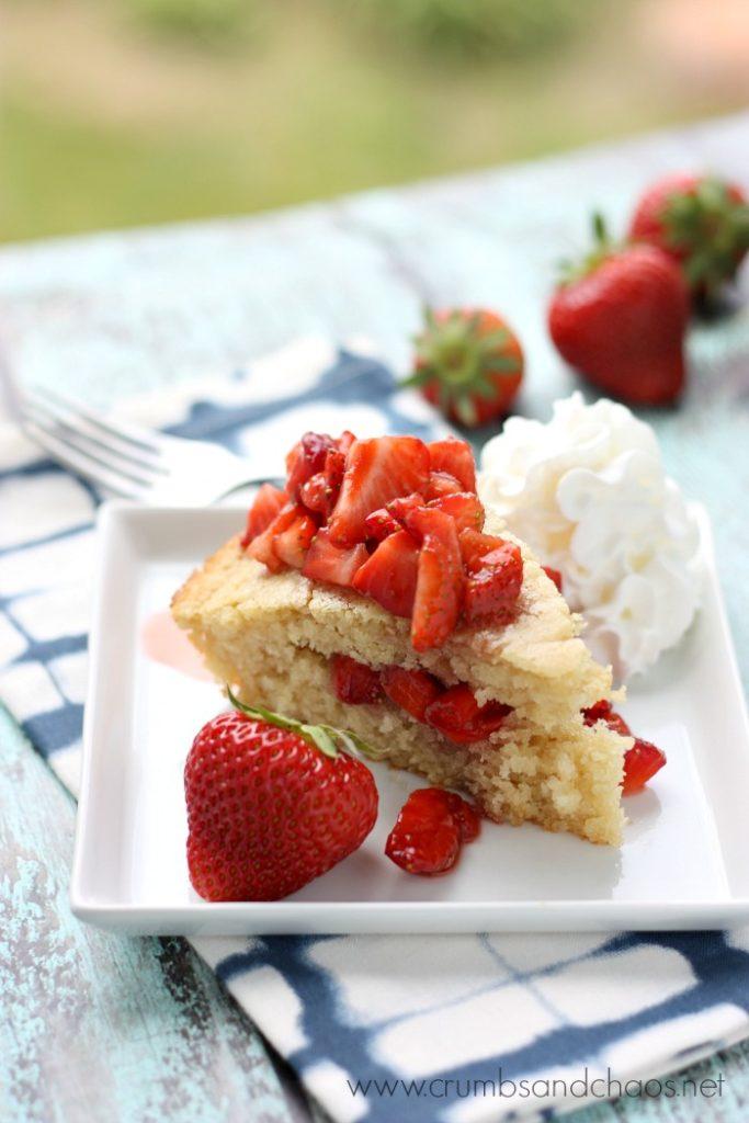 Balsamic Strawberry Shortcake Recipe | Crumbs and Chaos