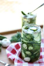Easy Garlic Dill Refrigerator Pickles