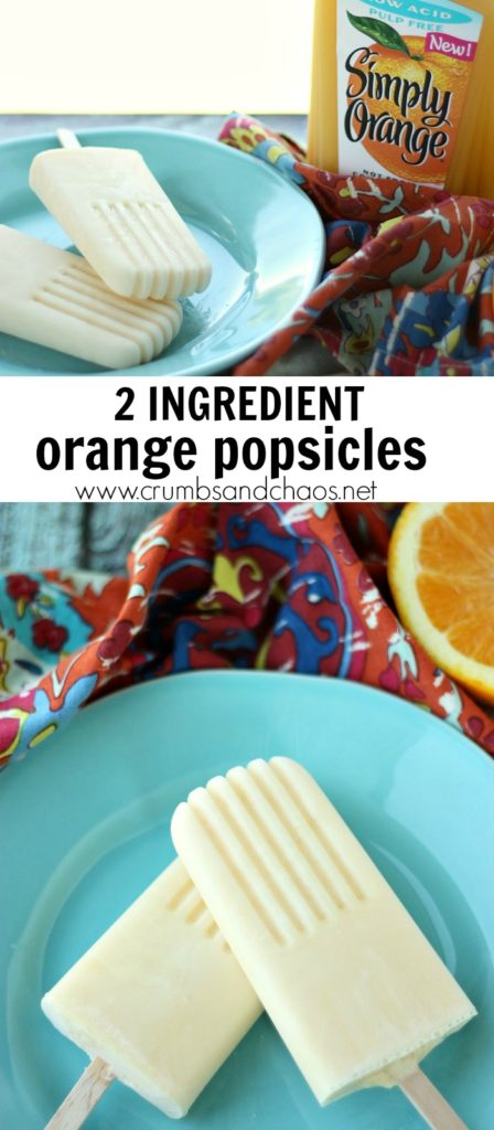 Easy 2 ingredient Orange Popsicles are simple to make and super refreshing!