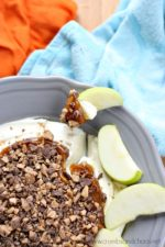 The Best Caramel Apple Toffee Dip