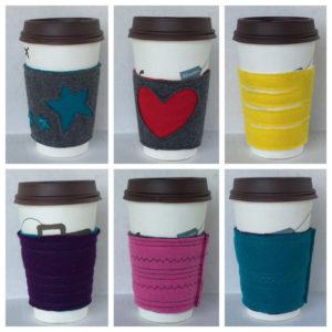 Felt Coffee Cozy made by Circa86 on Etsy