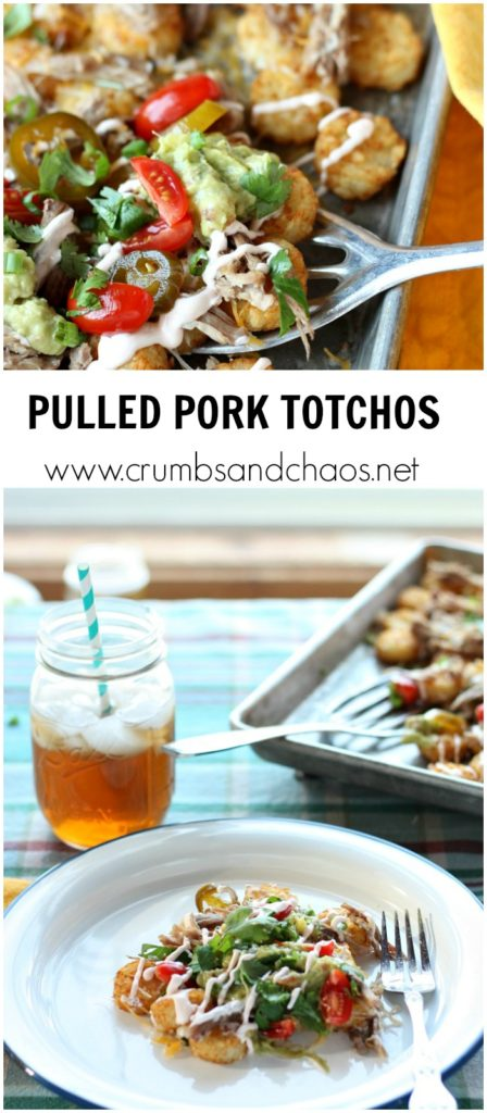 Your entire family will love this twist on nachos! Pulled Pork Totchos are delicious any night of the week!