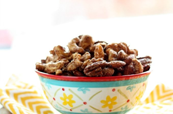 Simple to make, you won't be able to stop eating {sweet heat} Mixed Nuts! They're perfect for game day!