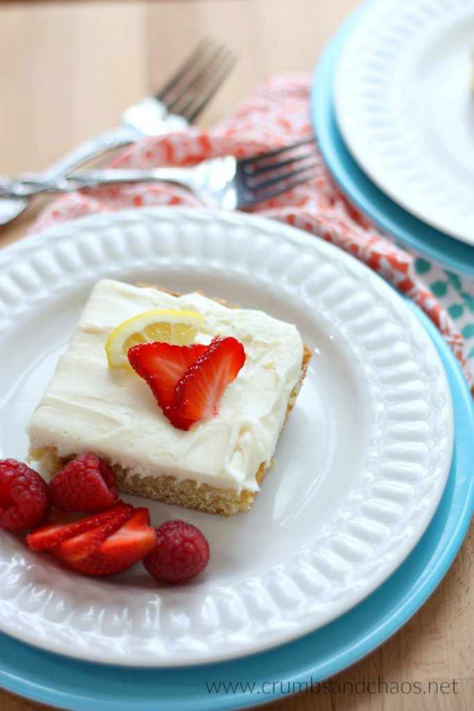 Lemon Sheet Cake will feed a crowd, is the perfect balance of tart and sweet, topped with Lemon Cream Cheese Frosting - it can't be beat!