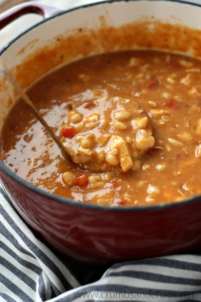 You'll love this simple chili any night of the week! Taco Ranch Chicken Chili can be made in as little as 30 minutes or cook it in the slow cooker.