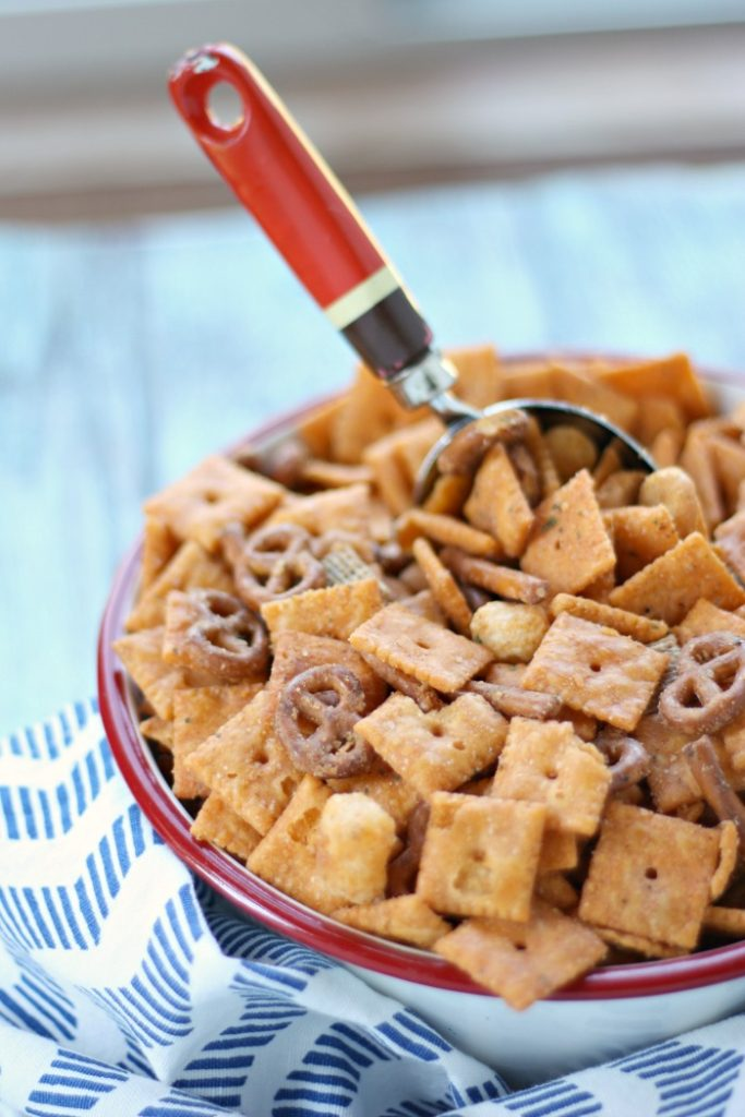 This 3 ingredient party mix is sure to please any crowd for any occasion!