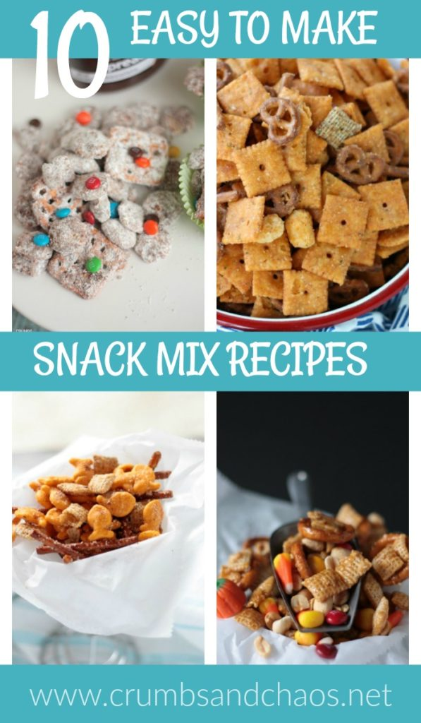 Check out 10 Easy to Make Snack Mix Recipes perfect for game day!